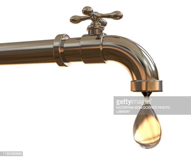 ilustrações de stock, clip art, desenhos animados e ícones de tap water, illustration - torneira