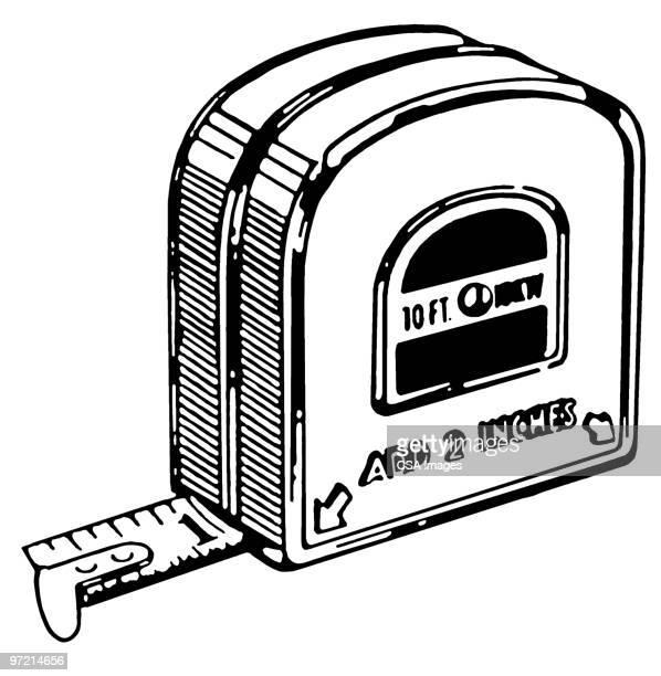 tape measure - ruler stock illustrations