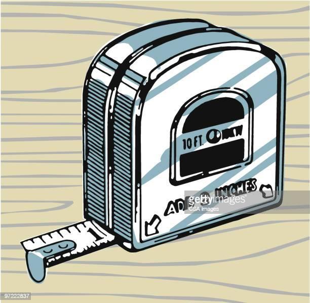 tape measure - instrument of measurement stock illustrations