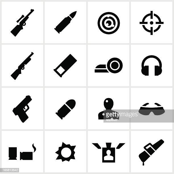 target shooting icons - bullet stock illustrations