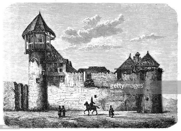Una fortaleza de tártaro en Rusia medieval, construido con defensa en mente