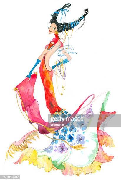taurus. astrology sign. - bullfighter stock illustrations, clip art, cartoons, & icons