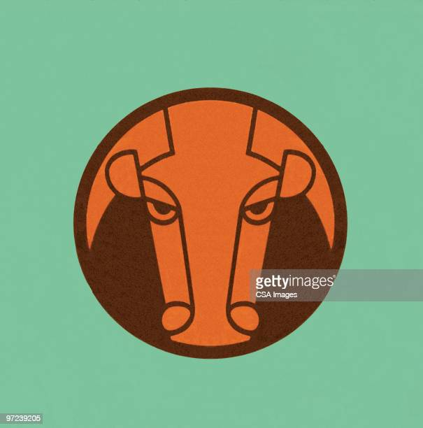 taurus - male animal stock illustrations