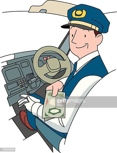 ilustraciones, imágenes clip art, dibujos animados e iconos de stock de taxi driver, illustrative technique - taxista