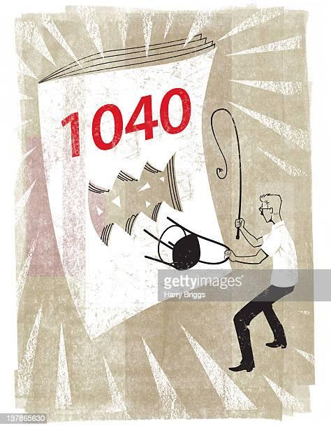 ilustraciones, imágenes clip art, dibujos animados e iconos de stock de taxing time - impuestosobrelarenta