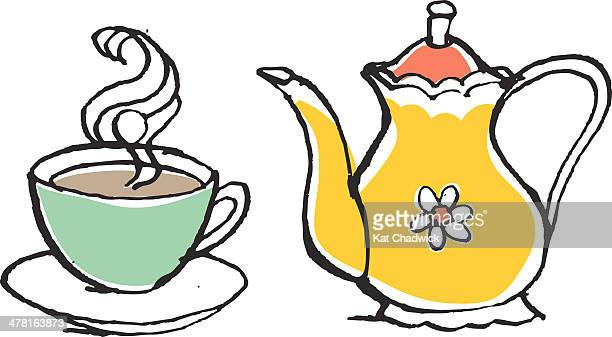 Afternoon Tea Stock Illustrations And Cartoons Getty Images