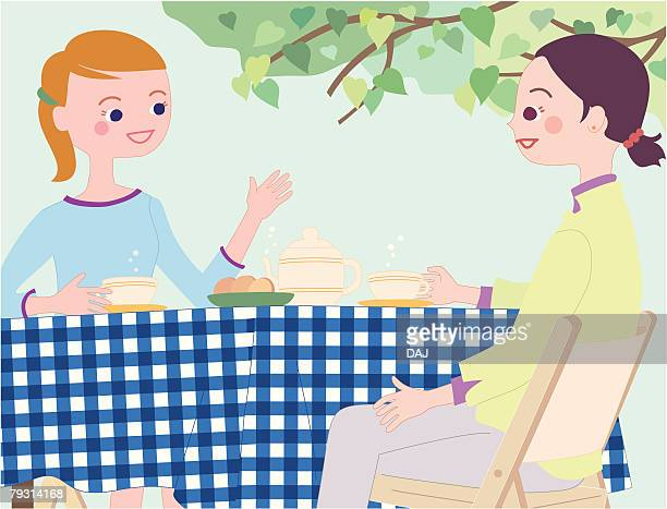 Tea Time, Illustrative Technique