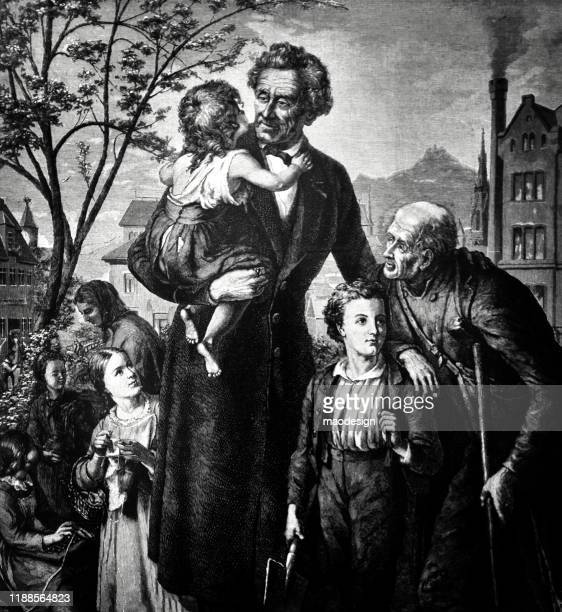 teacher holds the child in his arms - 1887 stock illustrations, clip art, cartoons, & icons