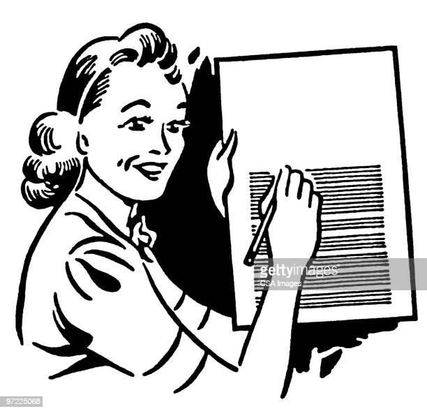 teacher - graph stock illustrations