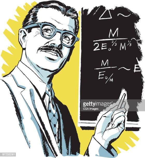 teacher - physics stock illustrations