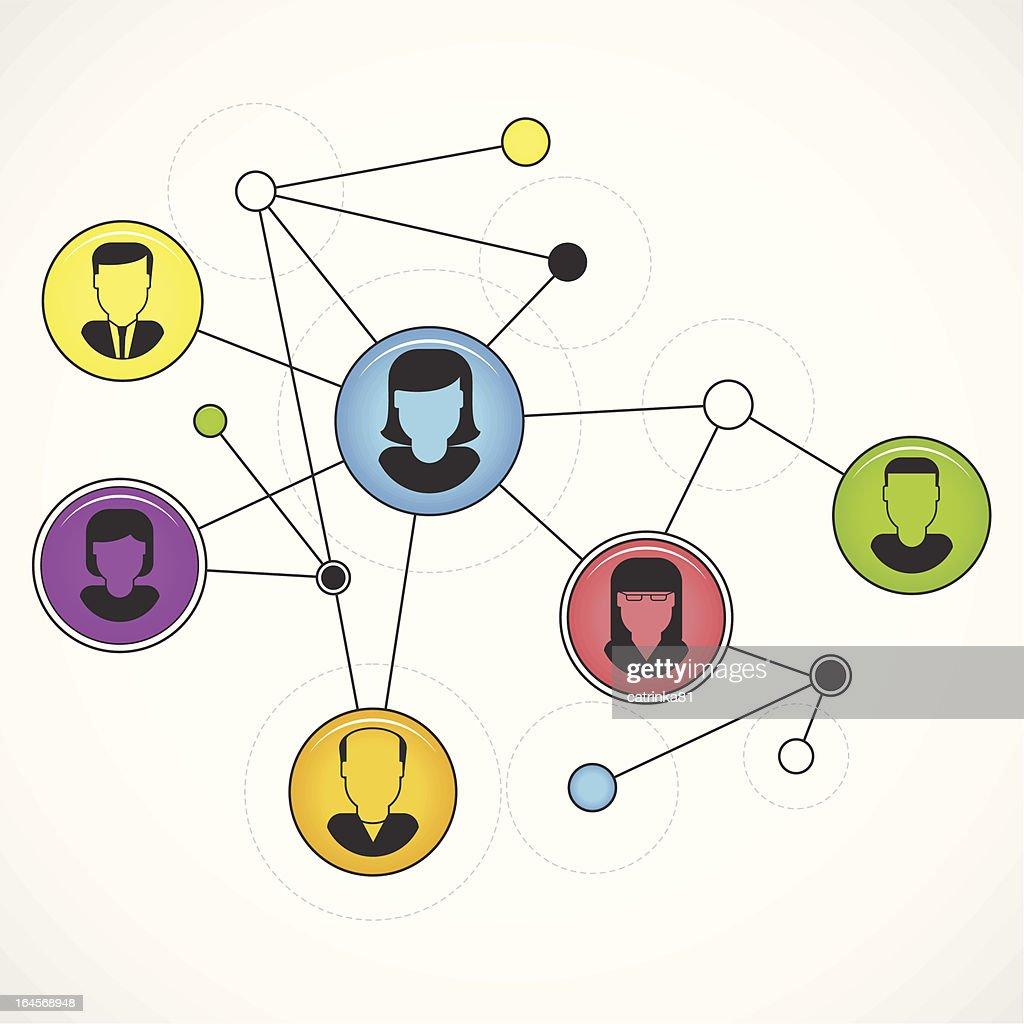 Teamwork background concept