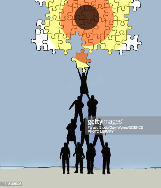 teamwork, conceptual illustration - corporate business stock illustrations