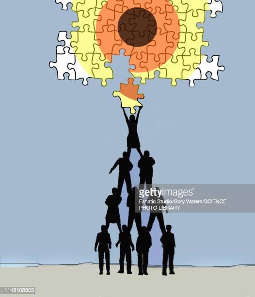 teamwork, conceptual illustration - sports target stock illustrations