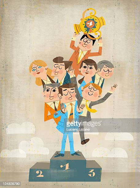 teamwork - corporate business stock illustrations