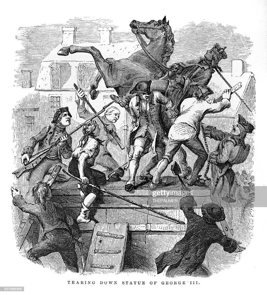 Abolizione della Statua del Re Giorgio III 1859 : Illustrazione stock