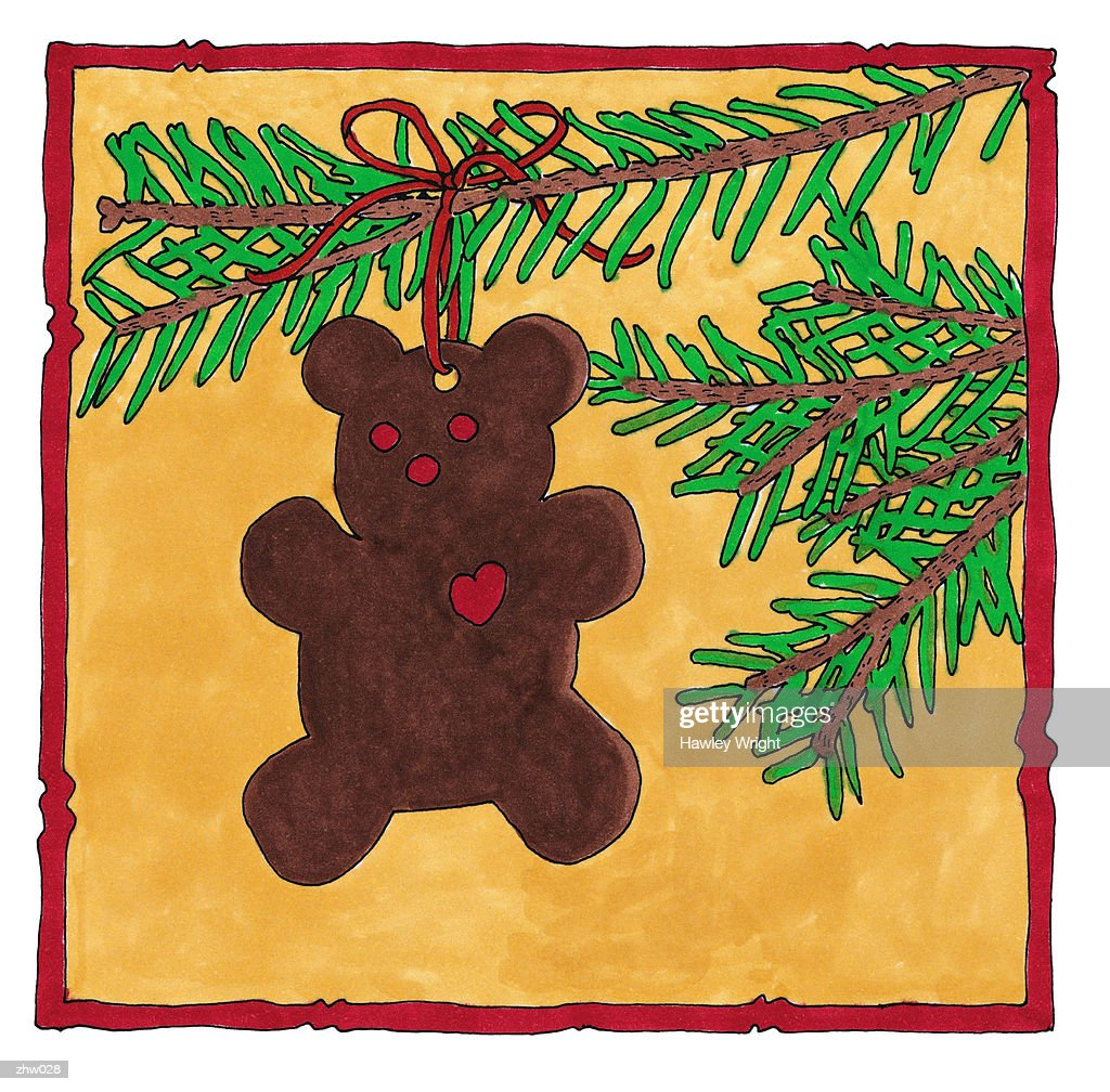 Teddy Bear Ornament : Stock Illustration