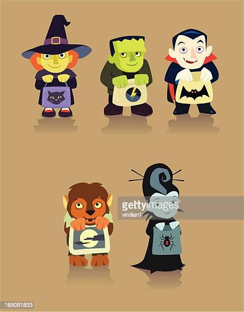 ilustrações de stock, clip art, desenhos animados e ícones de weenys pequeno - lobisomem