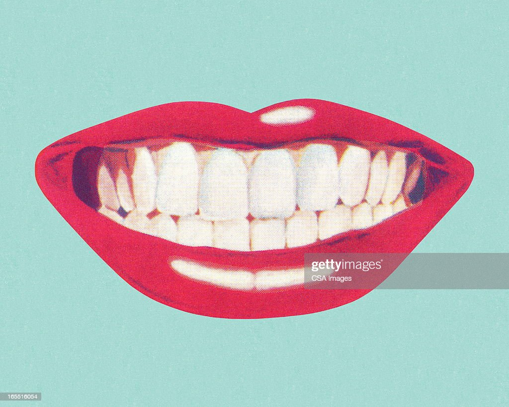 Teeth and Lips : stock illustration