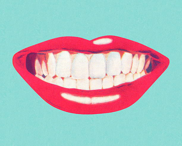 teeth and lips - lips stock illustrations