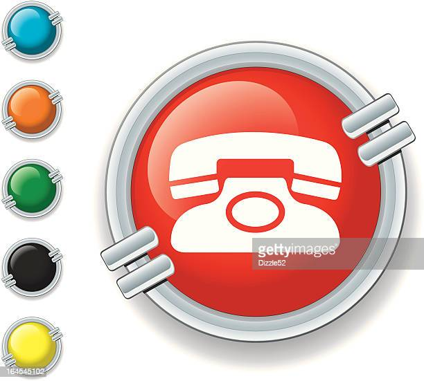 ilustraciones, imágenes clip art, dibujos animados e iconos de stock de icono de teléfono - telefono fijo
