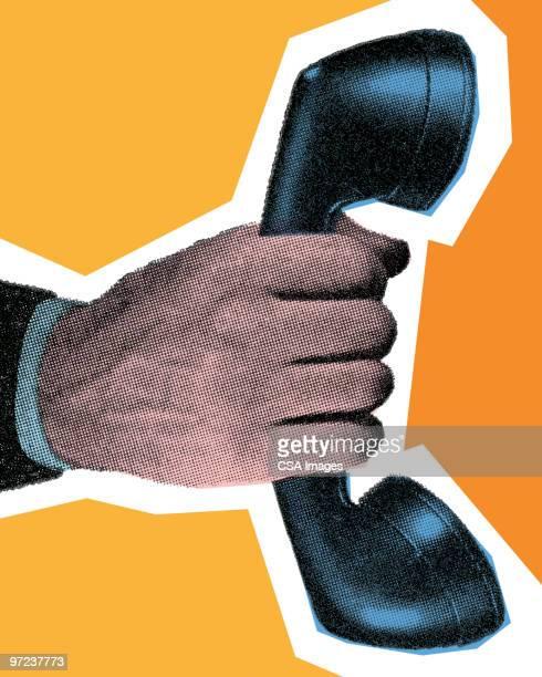 telephone - telephone receiver stock illustrations