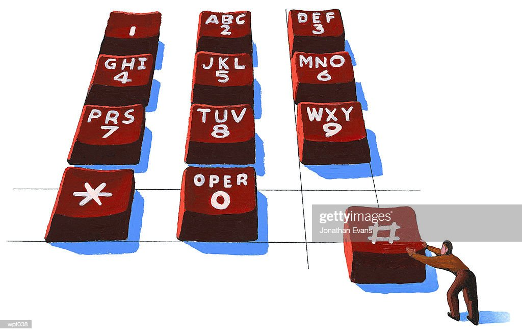 Telephone Keypad : Stock Illustration