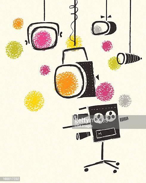 Television Camera and Lights