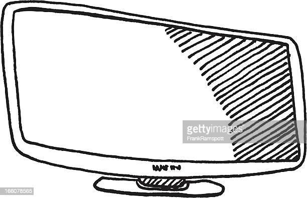 Television Flatscreen Sketch