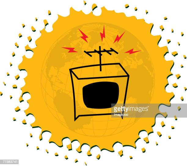 television - television aerial stock illustrations, clip art, cartoons, & icons