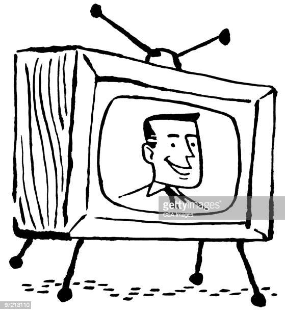television - actor stock illustrations, clip art, cartoons, & icons