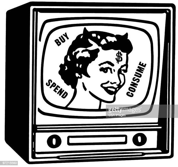 television - actor stock illustrations