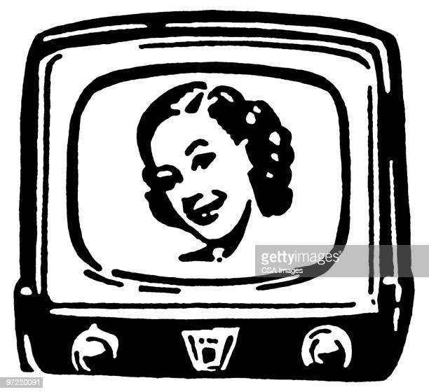 television - actress stock illustrations
