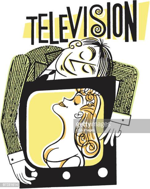 television - fan enthusiast stock illustrations