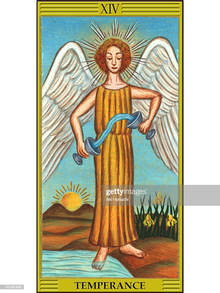 Temperance Tarot Card stock illustration - Getty Images