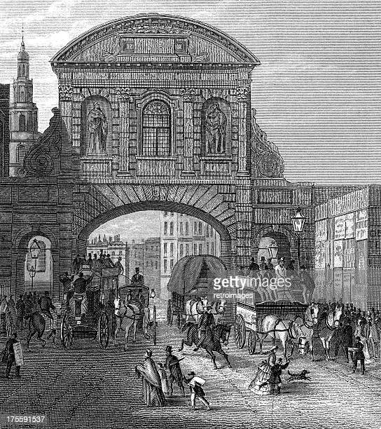 Temple Bar, historic gateway into the City of London (illustration)