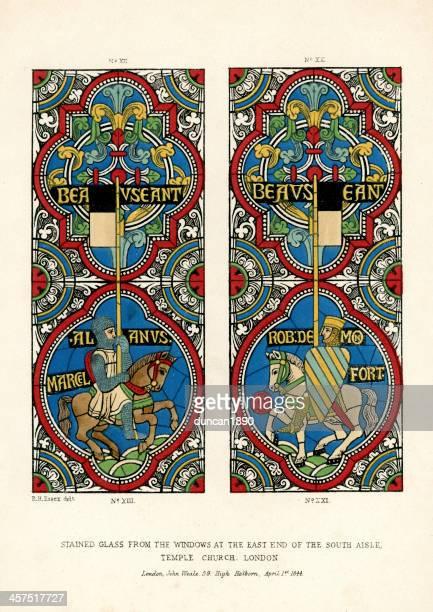temple church, london - 1840 1849 stock illustrations