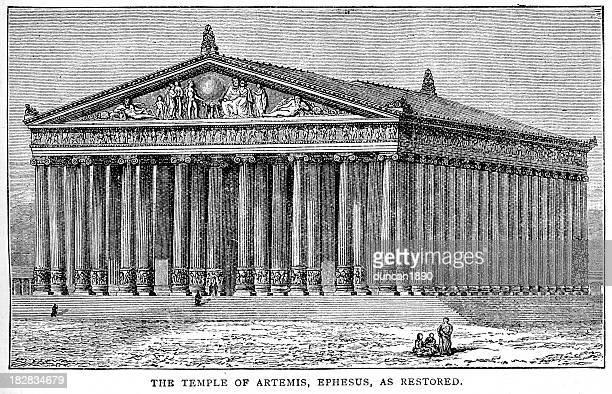 bildbanksillustrationer, clip art samt tecknat material och ikoner med temple of artemis, ephesus - grekisk gudinna