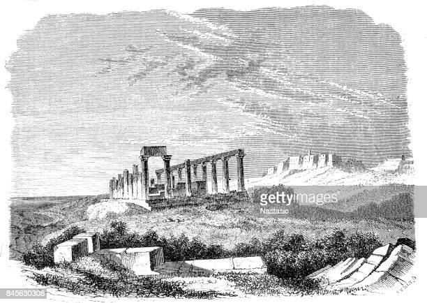 temple of juno lucina, agrigento - sicily stock illustrations, clip art, cartoons, & icons