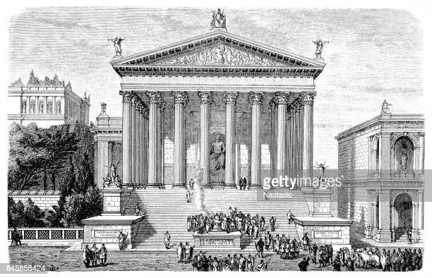 temple of jupiter - ancient greece stock illustrations, clip art, cartoons, & icons