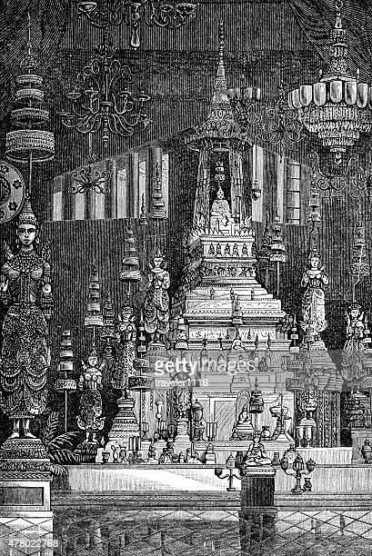Temple du Bouddha d'Emeraude à Bangkok, Thaïlande