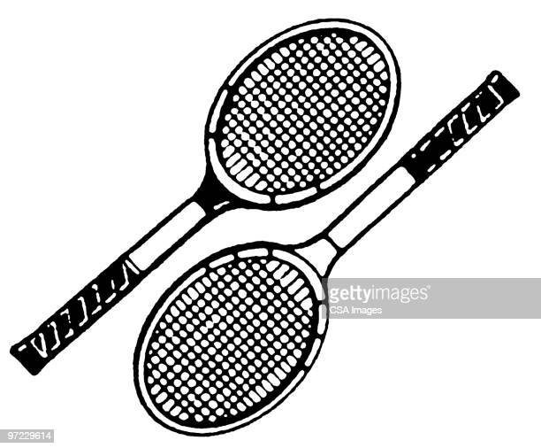ilustraciones, imágenes clip art, dibujos animados e iconos de stock de tennis - raqueta de tenis