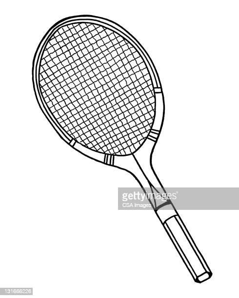 ilustraciones, imágenes clip art, dibujos animados e iconos de stock de tennis racket - raqueta de tenis