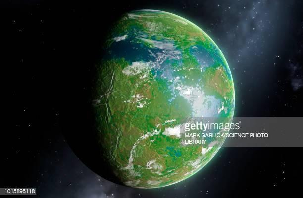 terraformed venus, illustration - venus planet stock illustrations