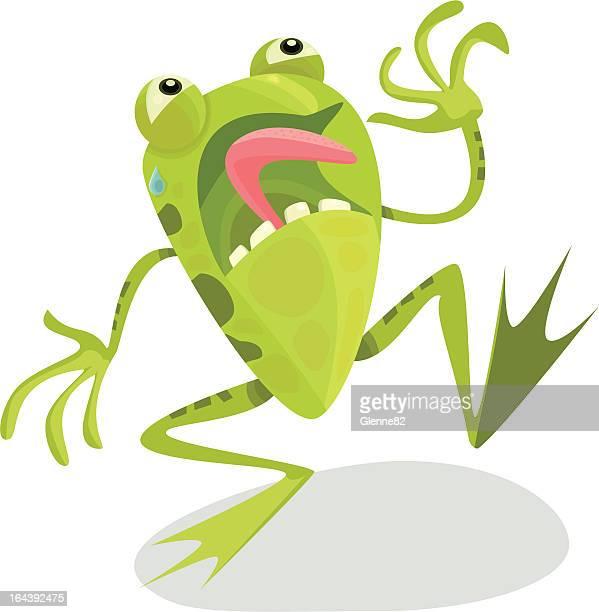 terrified frog - slimy stock illustrations, clip art, cartoons, & icons