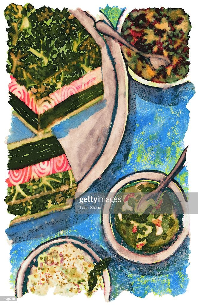 Terrine & Appetizer Buffet : Stock Illustration