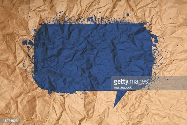 Textured paper speech bubble
