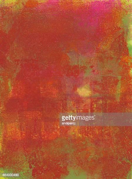 赤オレンジと緑の背景のテクスチャ
