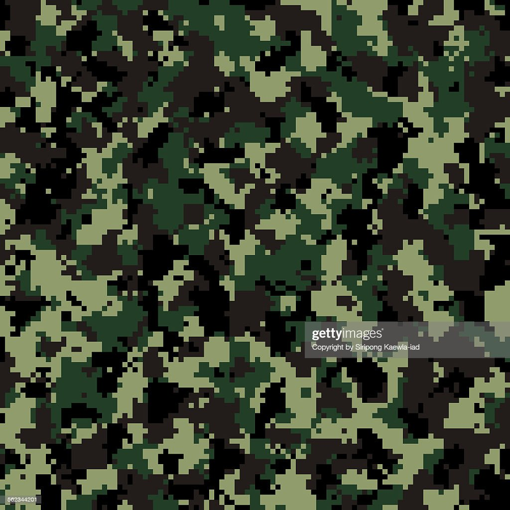 thai army digital camouflage pattern background stock