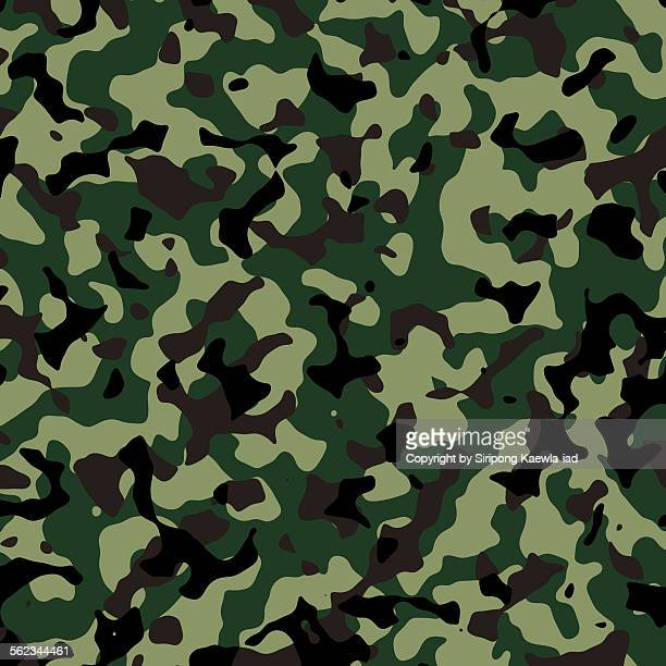 Thai Army illustrated camouflage pattern backgroun