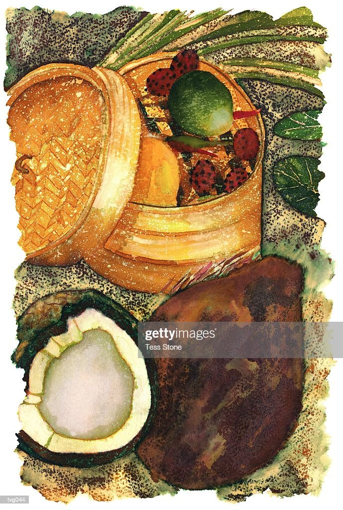 Thai Produce : Stock Illustration
